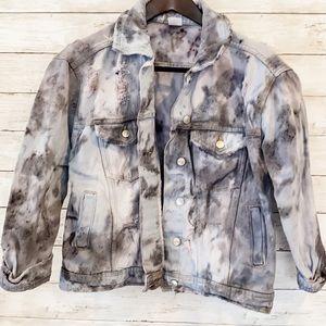 Handmade Tie Dye Distressed Denim Jacket